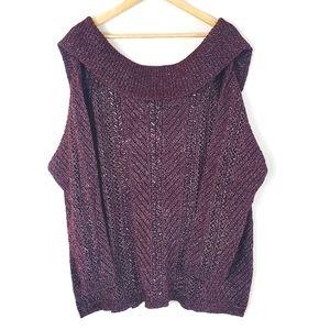 White House Black Market Cowl Neck Sweater Size 3X